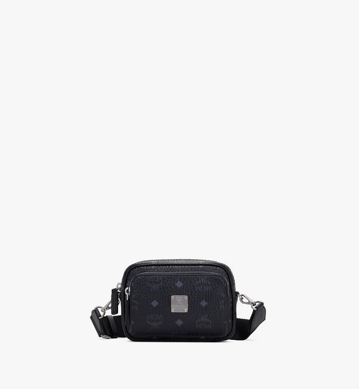 MCM Klassik Crossbody in Visetos Black MMRASKC08BK001 Alternate View 1