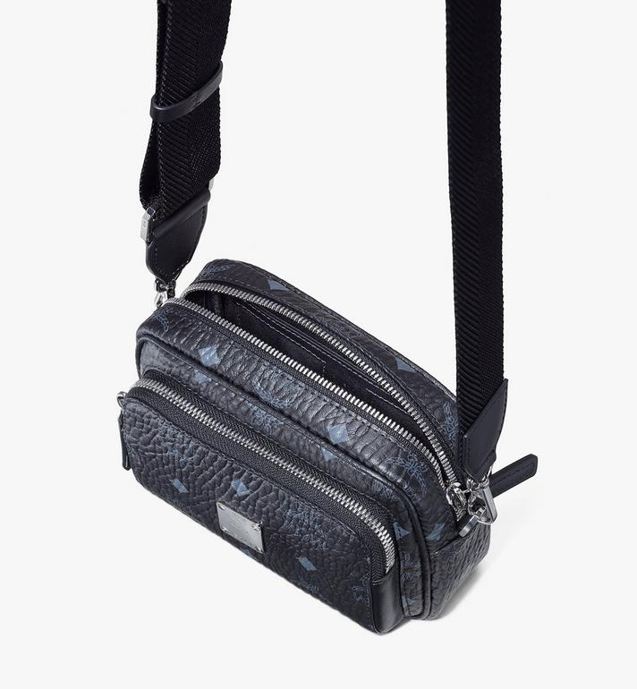 MCM Klassik Crossbody-Tasche in Visetos Black MMRASKC08BK001 Alternate View 4