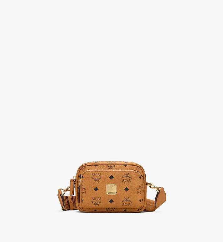 MCM Klassik Crossbody in Visetos Cognac MMRASKC08CO001 Alternate View 1