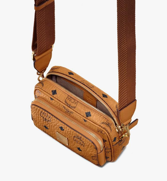 MCM Klassik Crossbody in Visetos Cognac MMRASKC08CO001 Alternate View 4