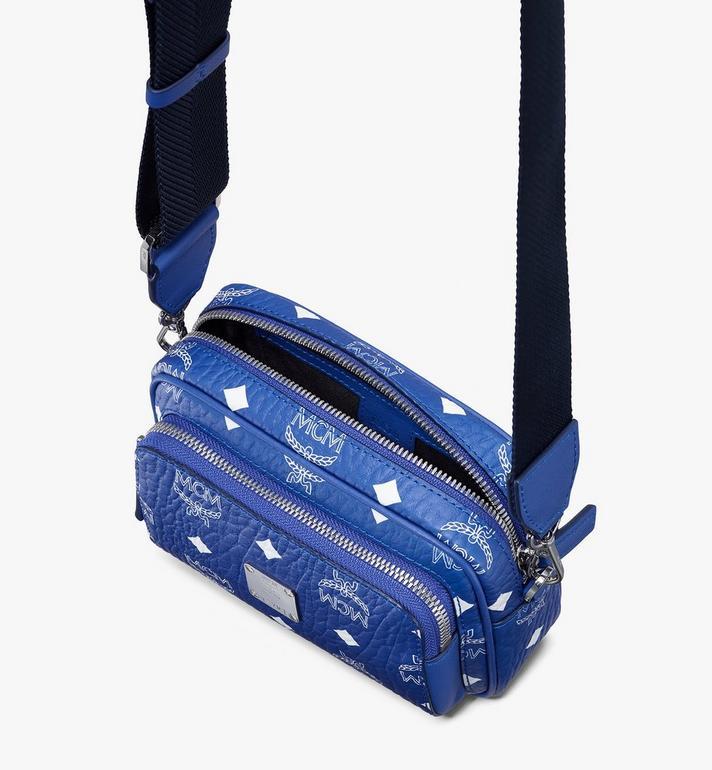 MCM Klassik Crossbody-Tasche in Visetos Blue MMRASKC09H1001 Alternate View 4