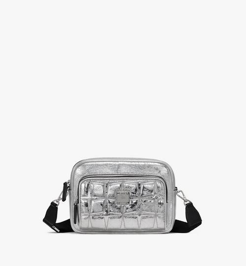 Klassik Crossbody-Tasche aus Steppleder mit Rautenmuster