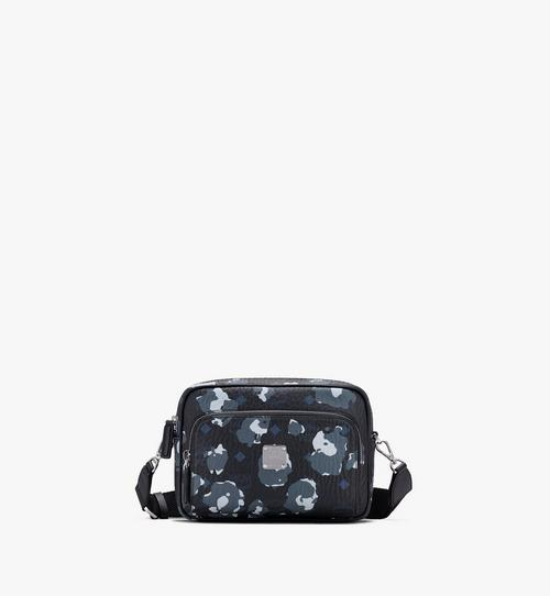Klassik Crossbody-Tasche mit geblümtem Leopardenmuster