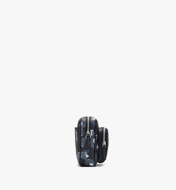 MCM Klassik Crossbody-Tasche mit geblümtem Leopardenmuster Black MMRASKC13B1001 Alternate View 2