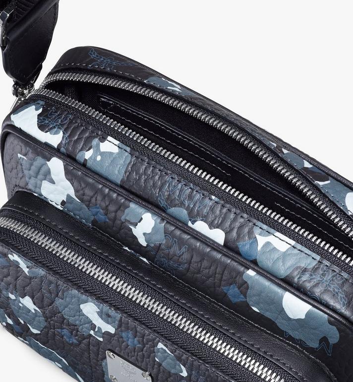 MCM Klassik Crossbody-Tasche mit geblümtem Leopardenmuster Black MMRASKC13B1001 Alternate View 4