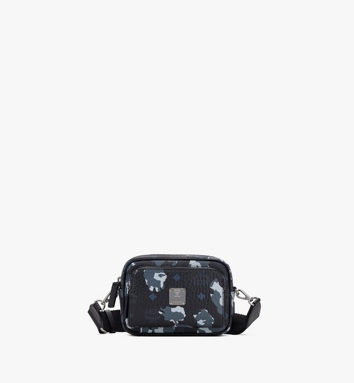 MCM Klassik Crossbody-Tasche mit geblümtem Leopardenmuster Alternate View