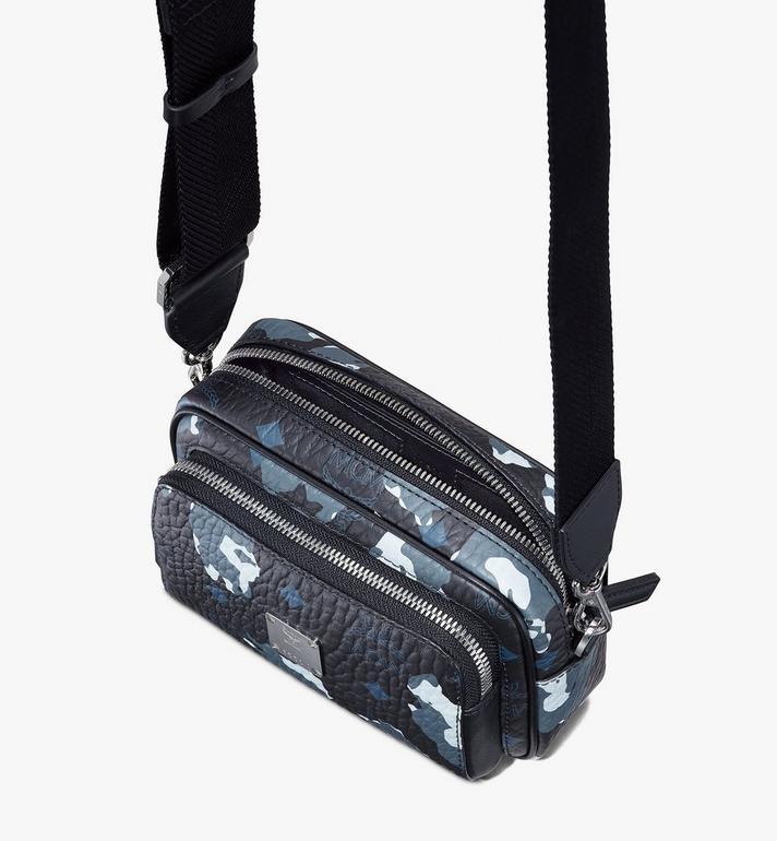 MCM Klassik Crossbody-Tasche mit geblümtem Leopardenmuster Black MMRASKC14B1001 Alternate View 4