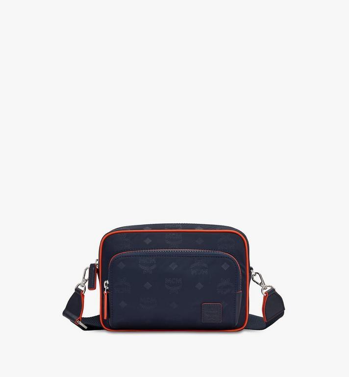 MCM Klassik Crossbody-Tasche aus Nylon mit Monogramm Alternate View