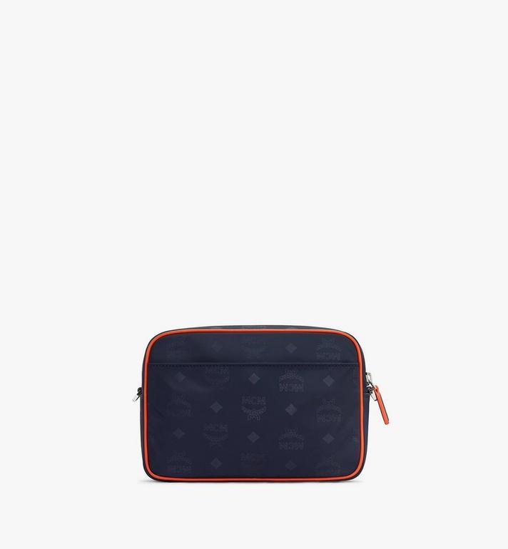 MCM Klassik Crossbody-Tasche aus Nylon mit Monogramm Blue MMRASKC15VA001 Alternate View 3