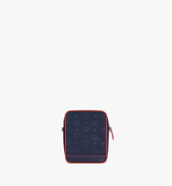 MCM Klassik Mini Crossbody in Monogram Nylon Blue MMRASKC16VA001 Alternate View 3