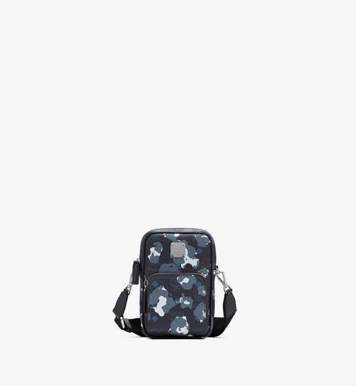 Tech-Crossbody-Tasche mit geblümtem Leopardenmuster