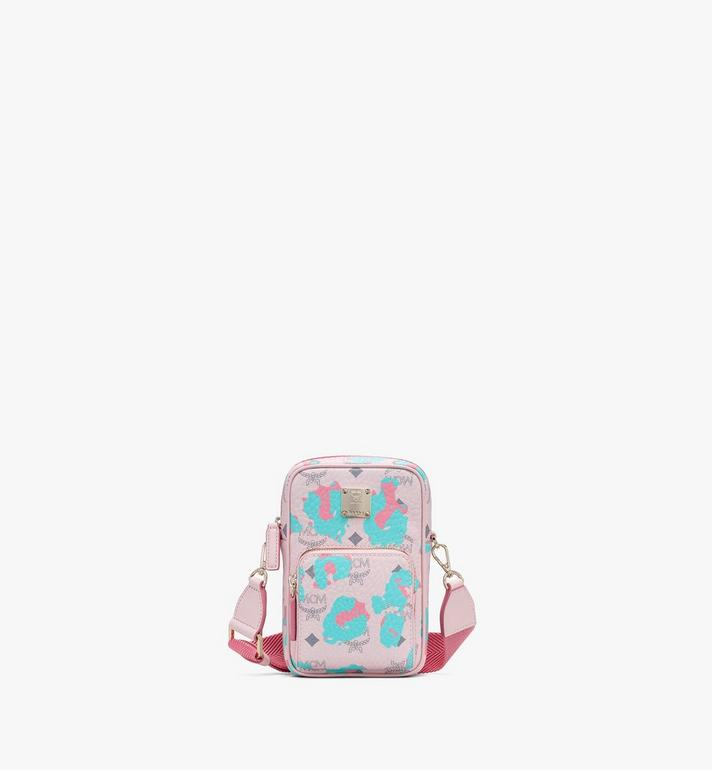 MCM Tech 碎花豹紋斜揹包 Pink MMRASLF01QI001 Alternate View 1