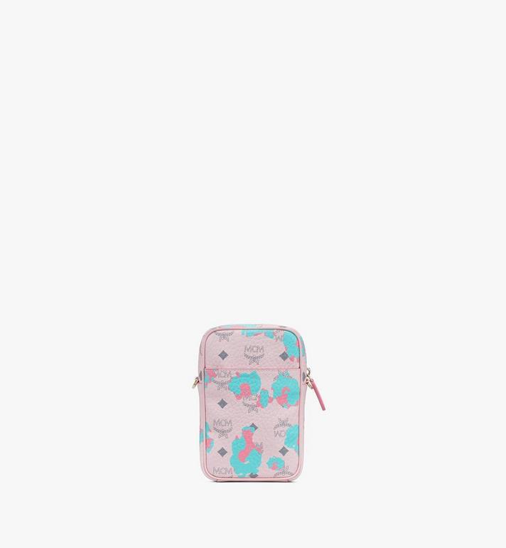 MCM Pochette multimédia à bandoulière à imprimé Floral Leopard Pink MMRASLF01QI001 Alternate View 3