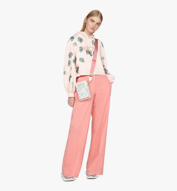 MCM Pochette multimédia à bandoulière à imprimé Floral Leopard Pink MMRASLF01QI001 Alternate View 5
