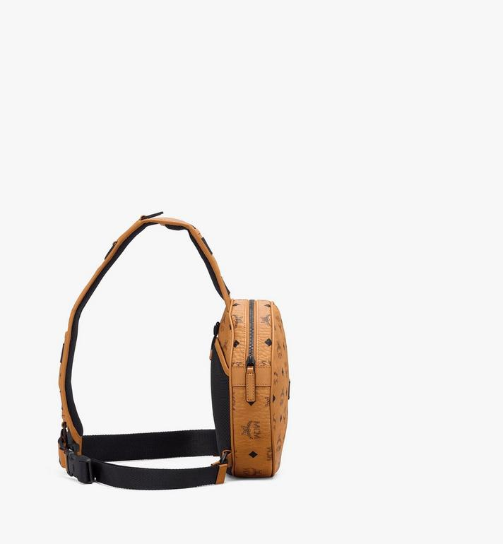 MCM Circle Crossbody in Visetos Cognac MMRASMV01CO001 Alternate View 2