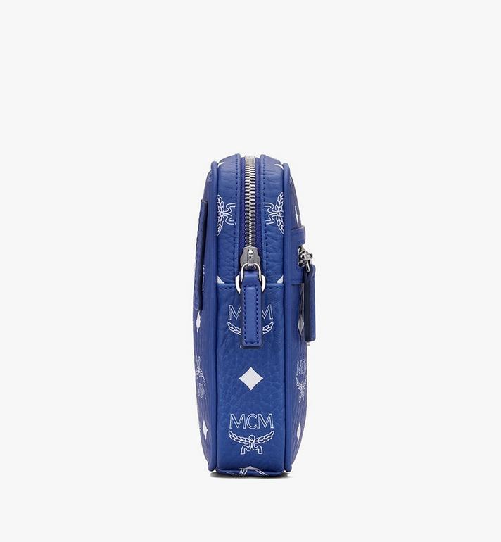 MCM Mini sac à bandoulière en Visetos Original Blue MMRASVI01H1001 Alternate View 2
