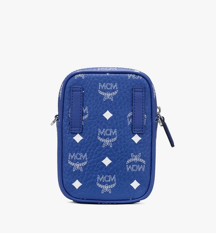 MCM Mini sac à bandoulière en Visetos Original Blue MMRASVI01H1001 Alternate View 3