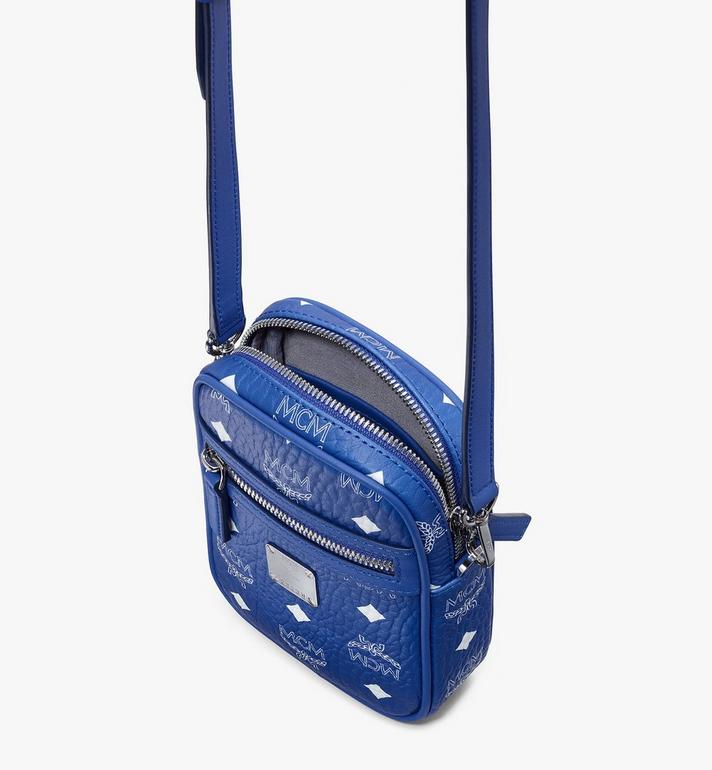 MCM Mini sac à bandoulière en Visetos Original Blue MMRASVI01H1001 Alternate View 4
