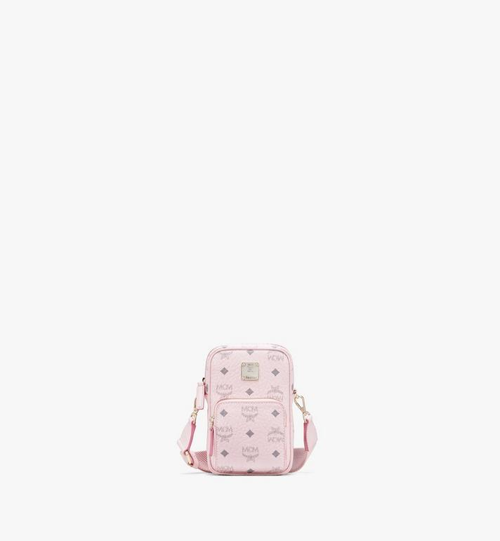 MCM Tech Crossbody in Visetos Original Pink MMRASVI02QH001 Alternate View 1