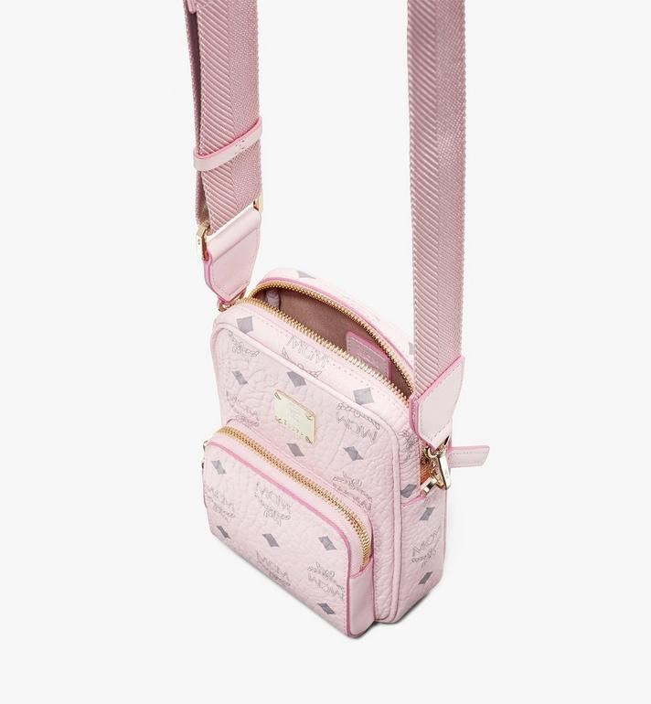 MCM Tech Crossbody in Visetos Original Pink MMRASVI02QH001 Alternate View 4