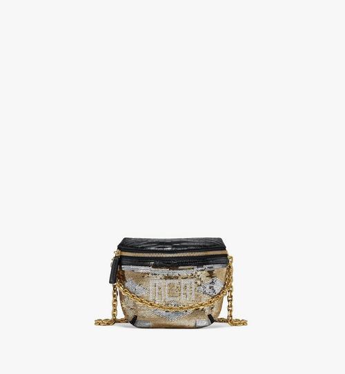 Klassik Crossbody-Tasche aus Geo Croco Sequin Leder