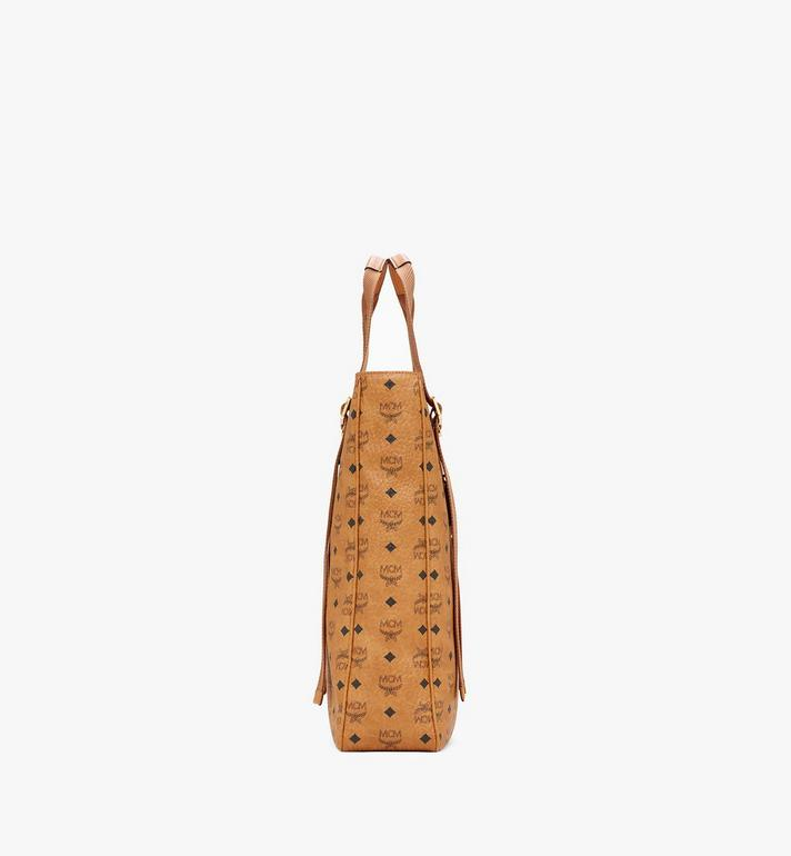 MCM Klassik Tote in Visetos Cognac MMTASKC02CO001 Alternate View 2