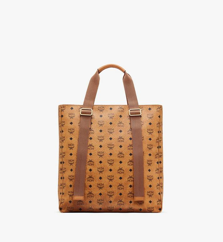 MCM Klassik Tote in Visetos Cognac MMTASKC02CO001 Alternate View 3