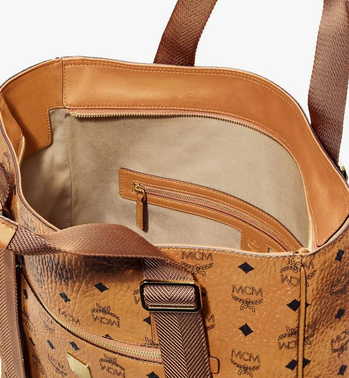 MCM Klassik Tote in Visetos Cognac MMTASKC02CO001 Alternate View 4