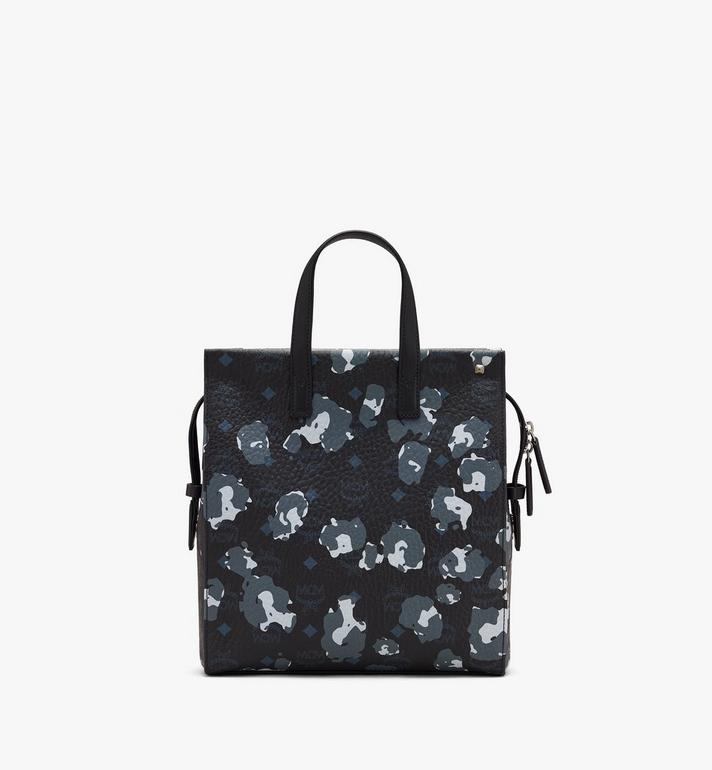 MCM Klassik Tote in Floral Leopard Black MMTASKC07B1001 Alternate View 3
