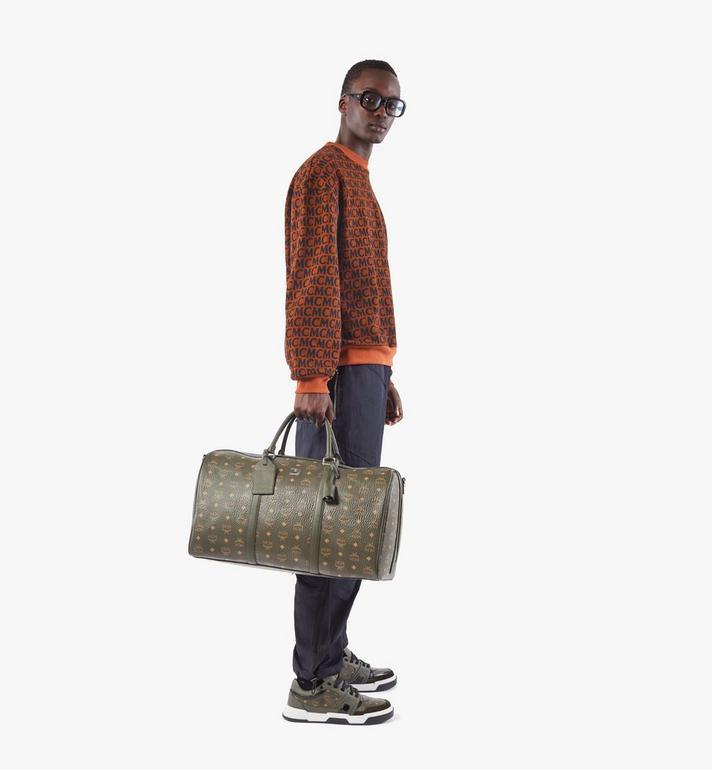 MCM Traveler Weekender Bag in Visetos Green MMVAAVY02JH001 Alternate View 6
