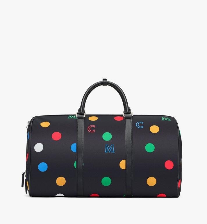 MCM Traveler Weekender Bag in Polka Dot Nylon Alternate View