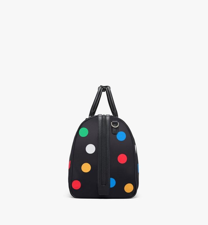 MCM Traveler Weekender Bag in Polka Dot Nylon Black MMVAAVY05BK001 Alternate View 2