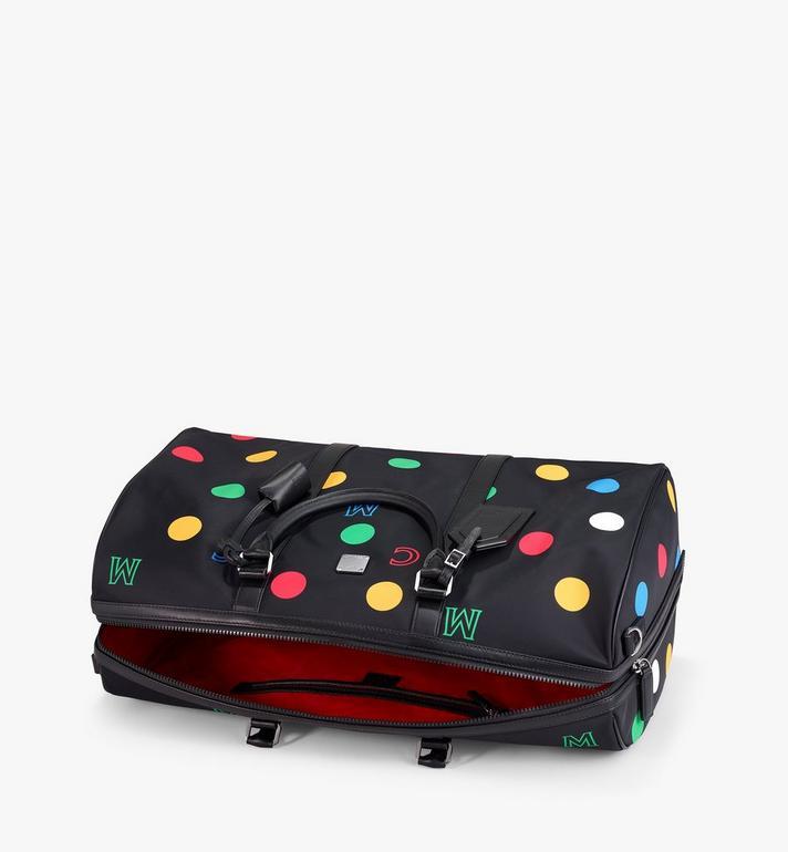 MCM Traveler Weekender Bag in Polka Dot Nylon Black MMVAAVY05BK001 Alternate View 3