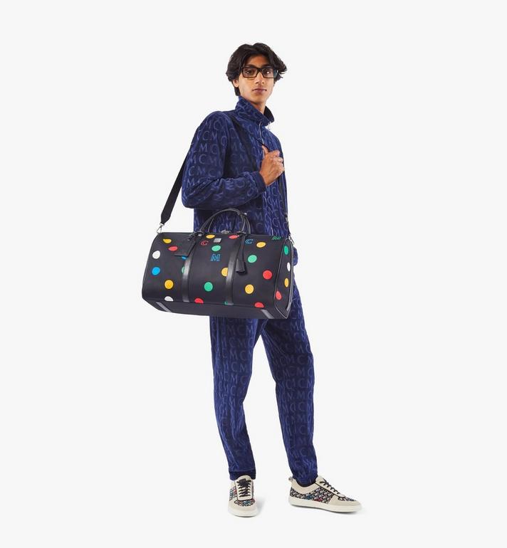 MCM Traveler Weekender Bag in Polka Dot Nylon Black MMVAAVY05BK001 Alternate View 5