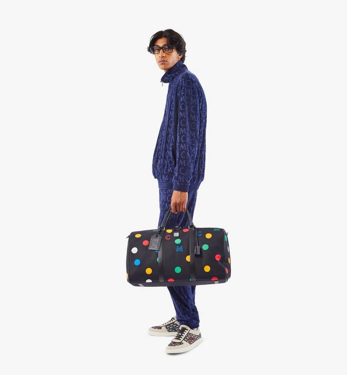 MCM Traveler Weekender Bag in Polka Dot Nylon Black MMVAAVY05BK001 Alternate View 6
