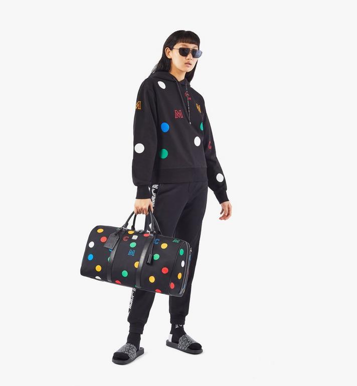 MCM Traveler Weekender Bag in Polka Dot Nylon Black MMVAAVY05BK001 Alternate View 7