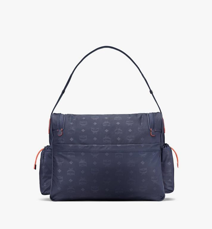 MCM Klassik Diaper Bag in Monogram Nylon Blue MMVASKC01VA001 Alternate View 3