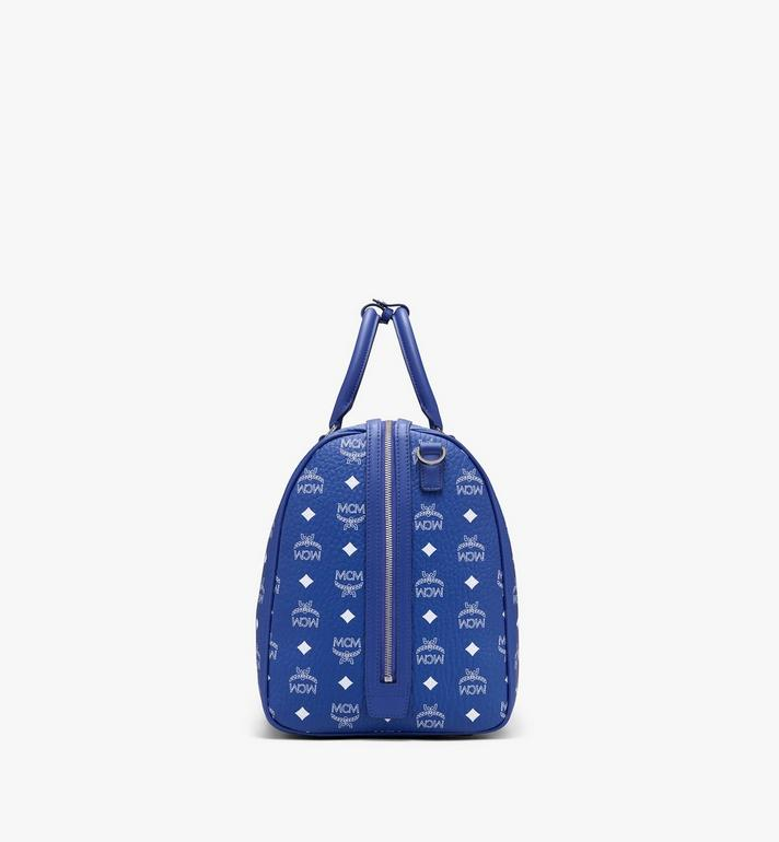 MCM Sac week-end Klassik en Visetos Blue MMVASVY01H1001 Alternate View 2