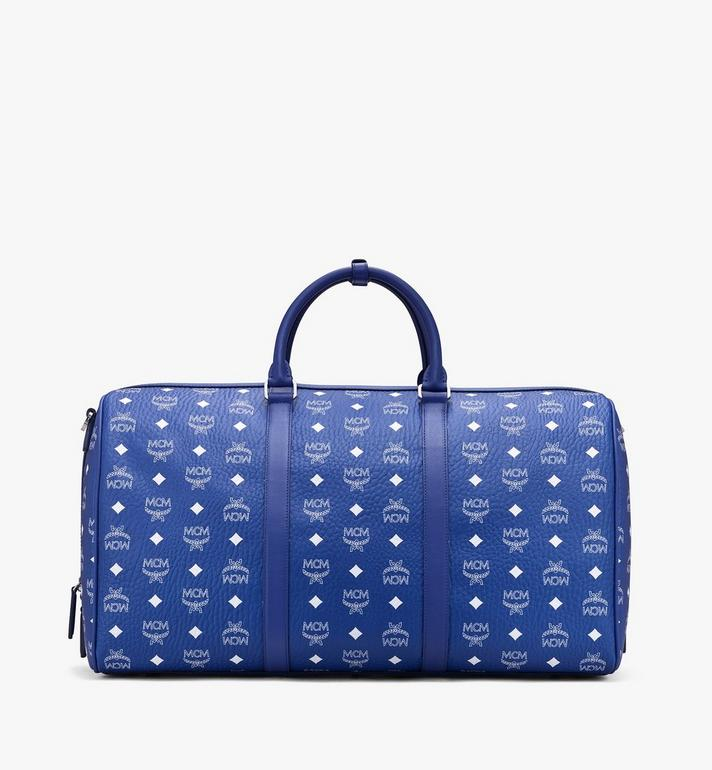 MCM Sac week-end Klassik en Visetos Blue MMVASVY01H1001 Alternate View 3