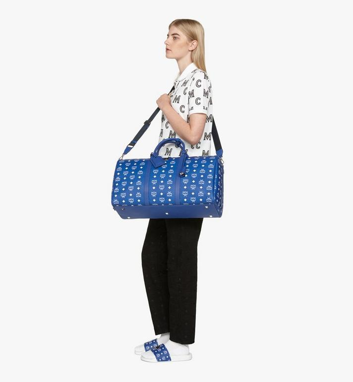 MCM Sac week-end Klassik en Visetos Blue MMVASVY01H1001 Alternate View 6