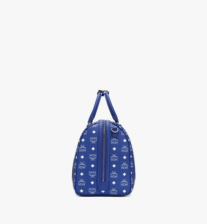 MCM Traveler Weekender in Visetos Blue MMVASVY02H1001 Alternate View 2