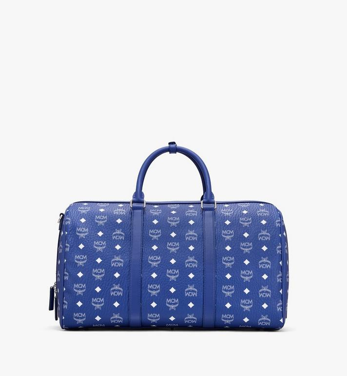 MCM Traveler Weekender in Visetos Blue MMVASVY02H1001 Alternate View 3