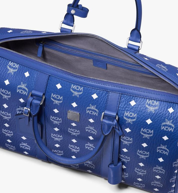 MCM Traveler Weekender in Visetos Blue MMVASVY02H1001 Alternate View 4