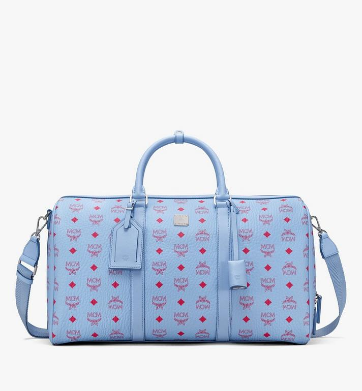 MCM Traveler Visetos 週末旅行包 Blue MMVASVY02H2001 Alternate View 1