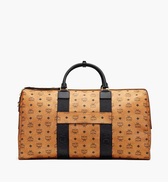 MCM Traveler Weekender Bag in Visetos Cognac MMVASVY03CO001 Alternate View 3