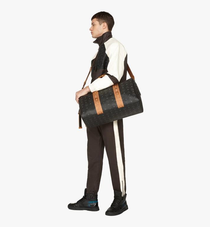 MCM Traveler Weekender Bag in Visetos Black MMVASVY04BK001 Alternate View 7