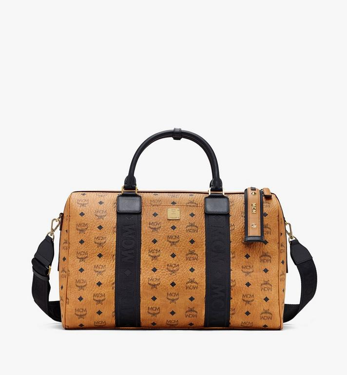 MCM Traveler Visetos 週末旅行包 Cognac MMVASVY05CO001 Alternate View 1