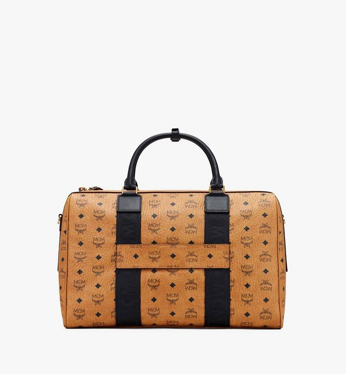 MCM Traveler Visetos 週末旅行包 Cognac MMVASVY05CO001 Alternate View 3