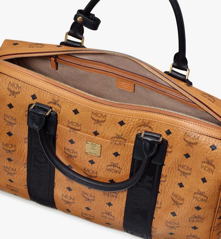 MCM Traveler Weekender Bag in Visetos Cognac MMVASVY05CO001 Alternate View 4