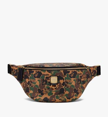 MCM x BAPE Stark Belt Bag in Camo Visetos